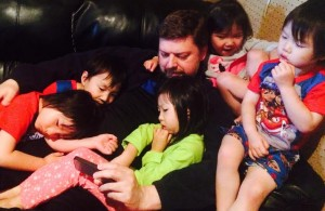 Dan and kids